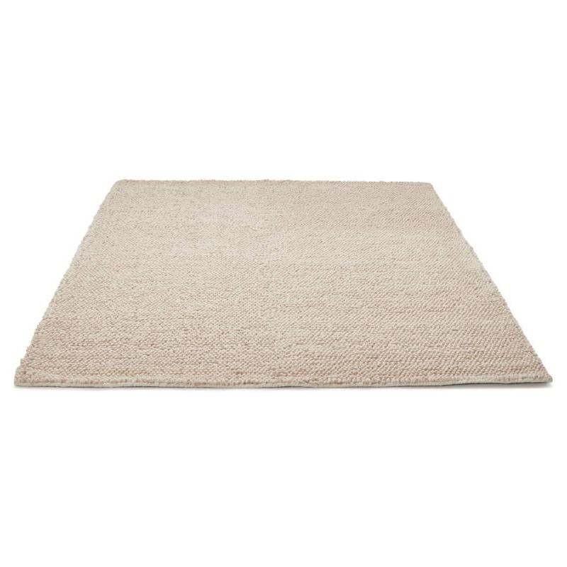 Tapis design rectangulaire (230 cm X 160 cm) BADER en laine (beige) - image 38588