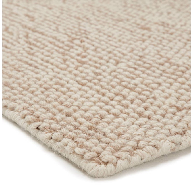 Tapis design rectangulaire (230 cm X 160 cm) BADER en laine (beige) - image 38589