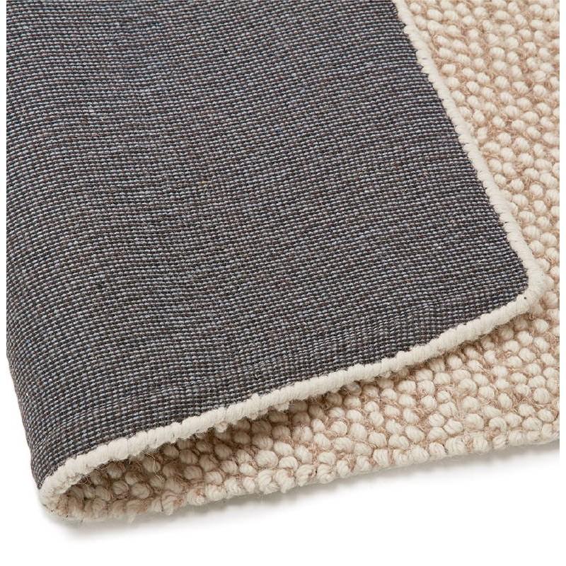 Tapis design rectangulaire (230 cm X 160 cm) BADER en laine (beige) - image 38591