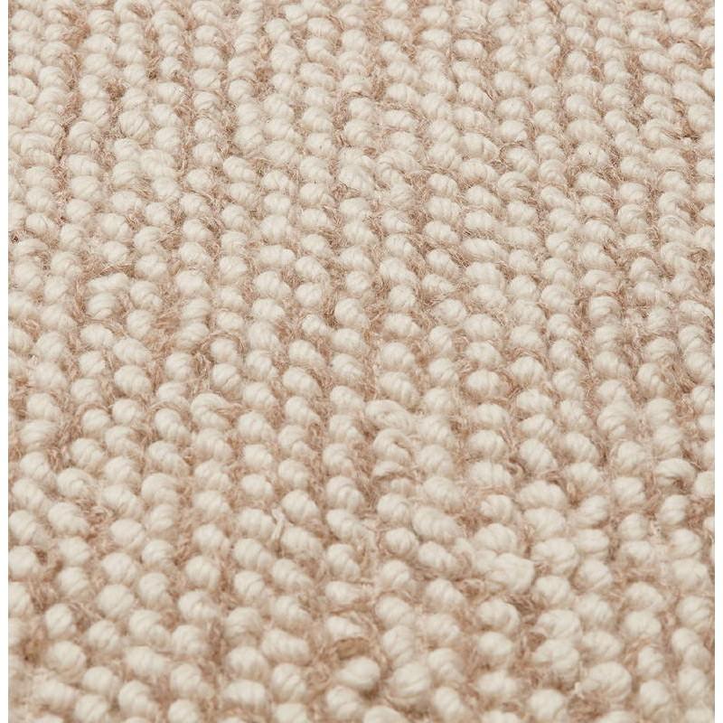 Tapis design rectangulaire (230 cm X 160 cm) BADER en laine (beige) - image 38593