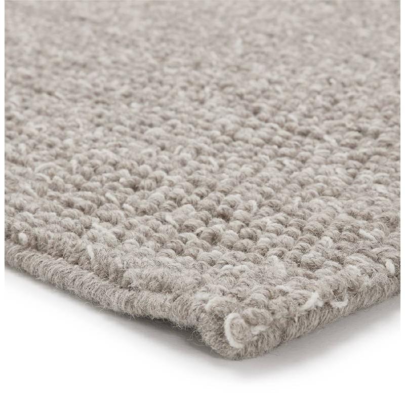 Tapis design rectangulaire (230 cm X 160 cm) BADER en laine (gris) - image 38600