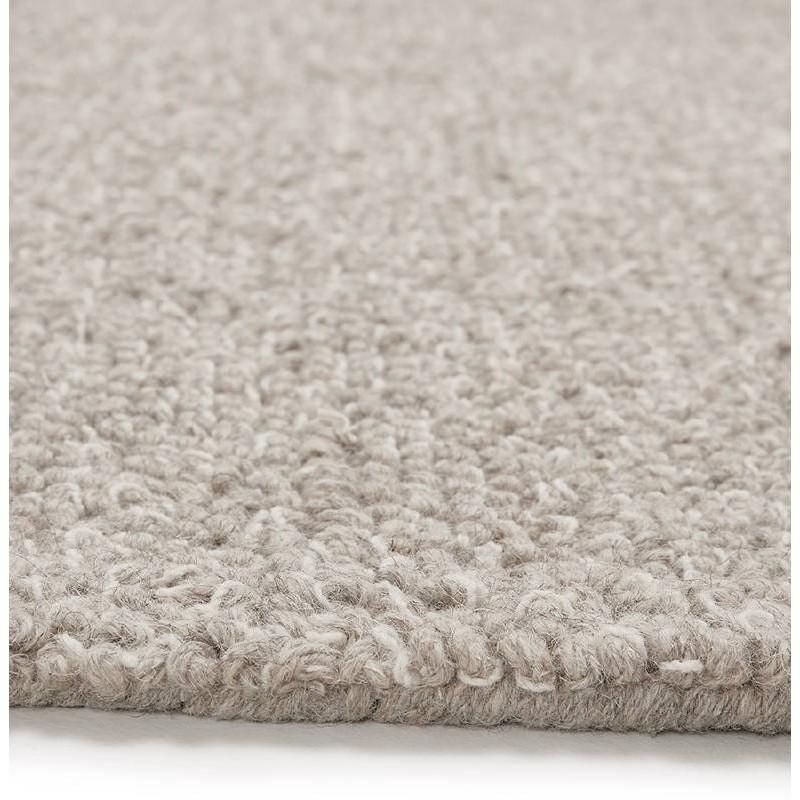 Tapis design rectangulaire (230 cm X 160 cm) BADER en laine (gris) - image 38601