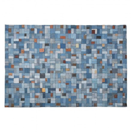 Rug rectangular fun (230 cm X 160 cm) GABIE in jeans (blue)