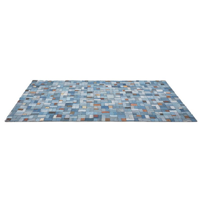 Tapis fun rectangulaire (230 cm X 160 cm) GABIE en jeans (bleu) - image 38608