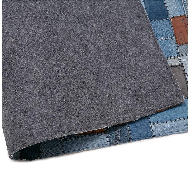 Tapis fun rectangulaire (230 cm X 160 cm) GABIE en jeans (bleu) - image 38612