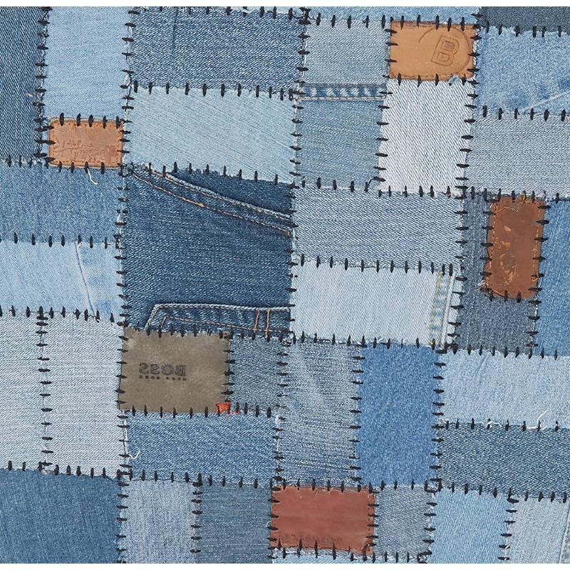 Tapis fun rectangulaire (230 cm X 160 cm) GABIE en jeans (bleu) - image 38614