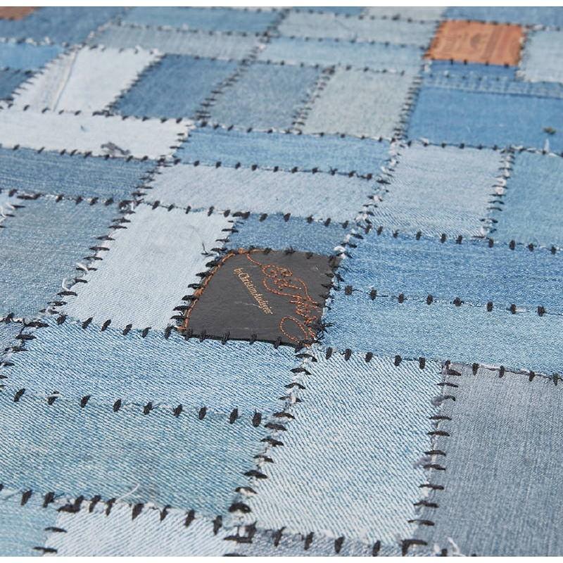 Tapis fun rectangulaire (230 cm X 160 cm) GABIE en jeans (bleu) - image 38616