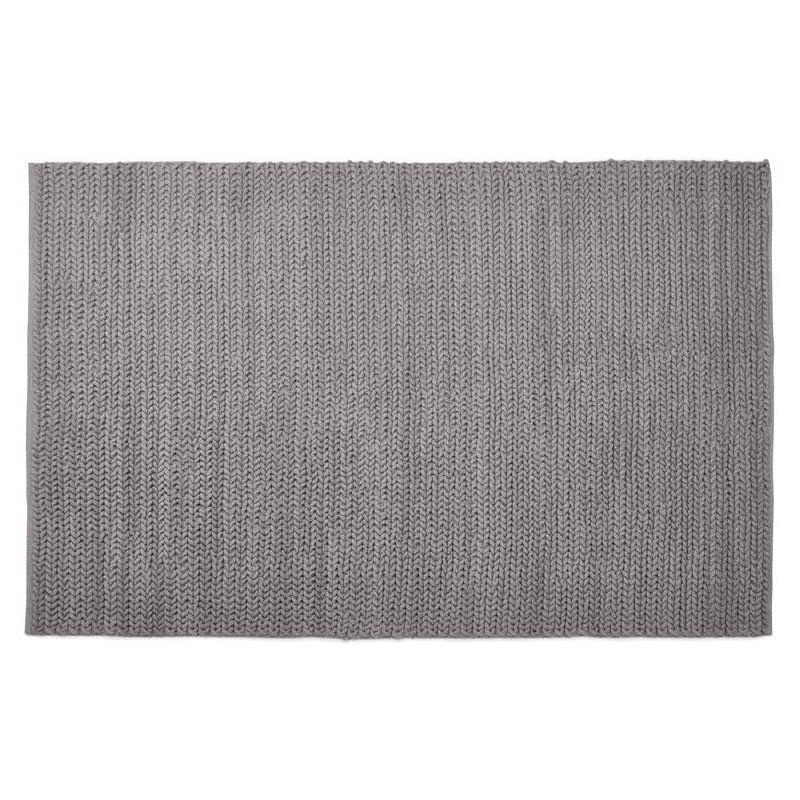 Tapis design rectangulaire (230 cm X 160 cm) TRICOT en coton (gris) - image 38619