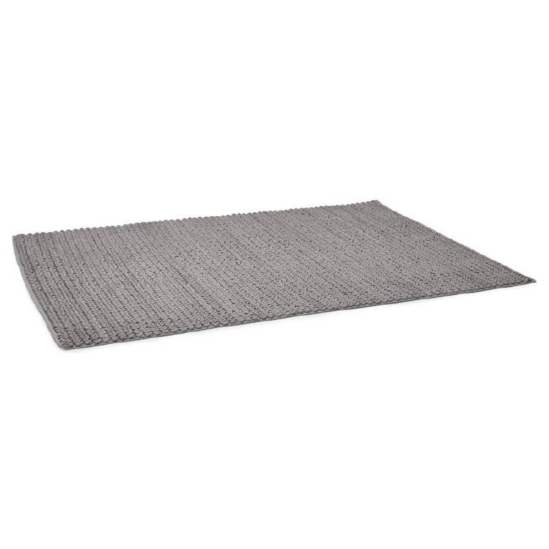 Tapis design rectangulaire (230 cm X 160 cm) TRICOT en coton (gris) - image 38620