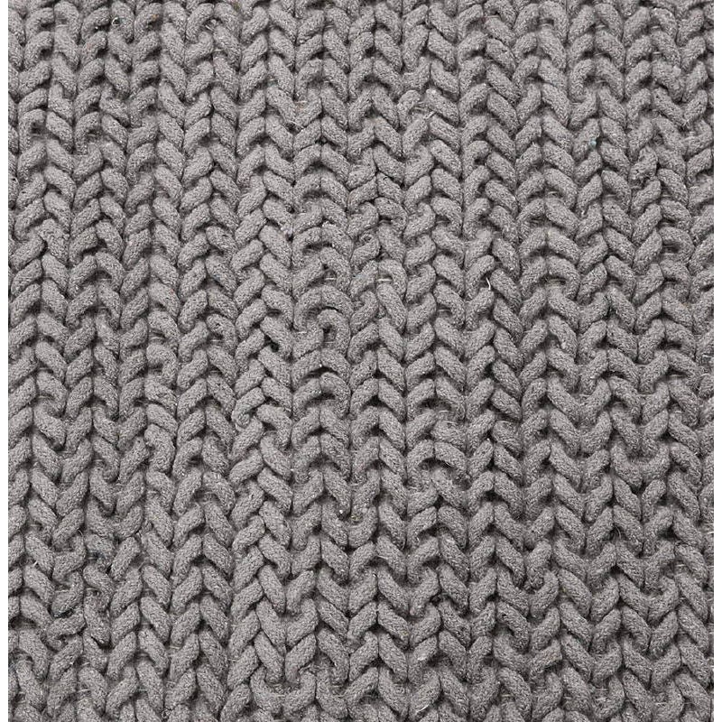 Tapis design rectangulaire (230 cm X 160 cm) TRICOT en coton (gris) - image 38626