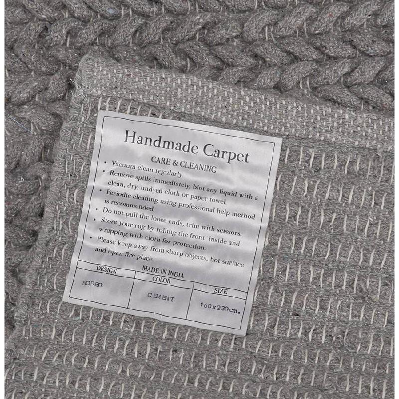 Tapis design rectangulaire (230 cm X 160 cm) TRICOT en coton (gris) - image 38628