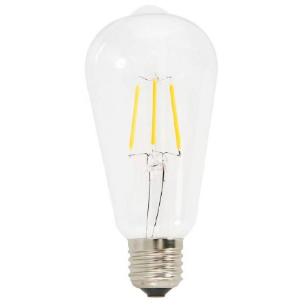 Bulb long industrial vintage IVAN glass filament LED (transparent)