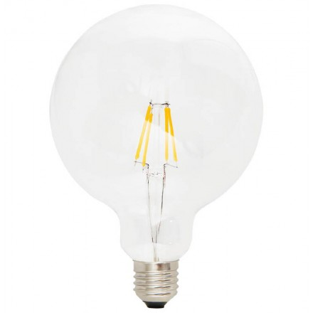 Bulb round IVAN BIG industrial vintage glass filament LED (transparent)