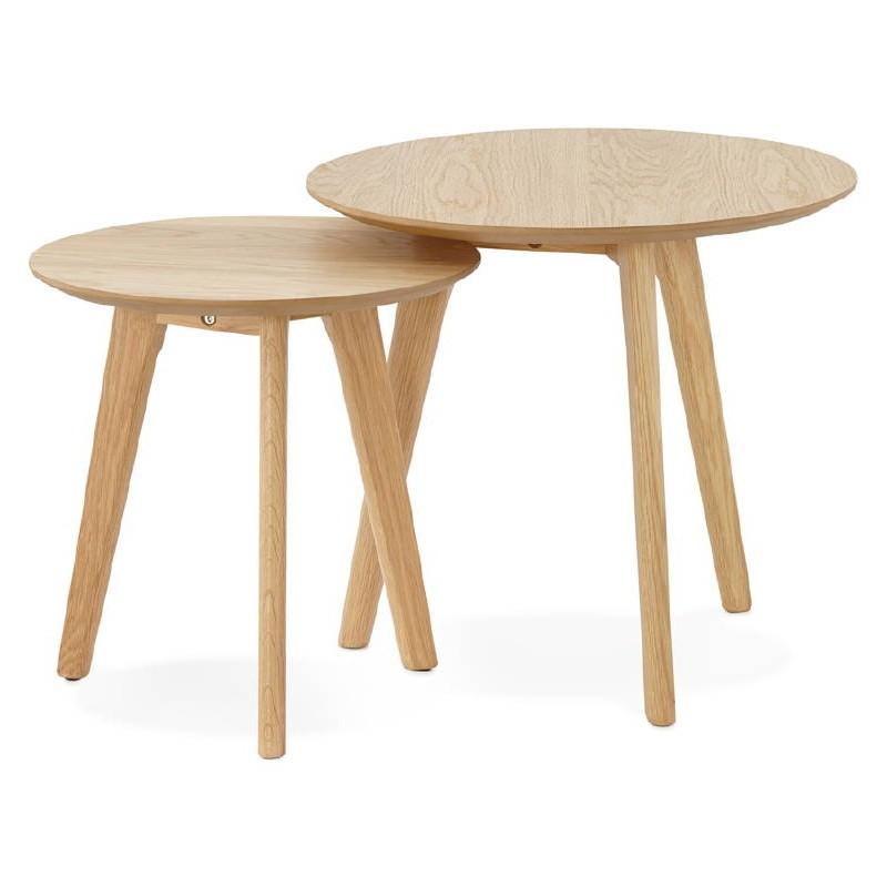 Tables gigognes ART en bois et chêne massif (naturel) - image 38658