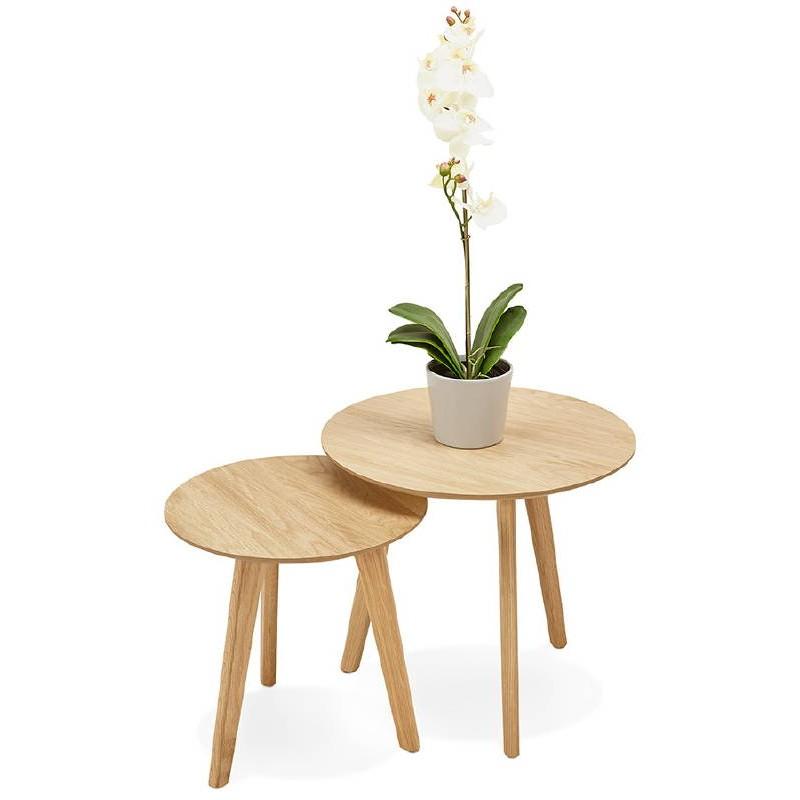 Tables gigognes ART en bois et chêne massif (naturel) - image 38669
