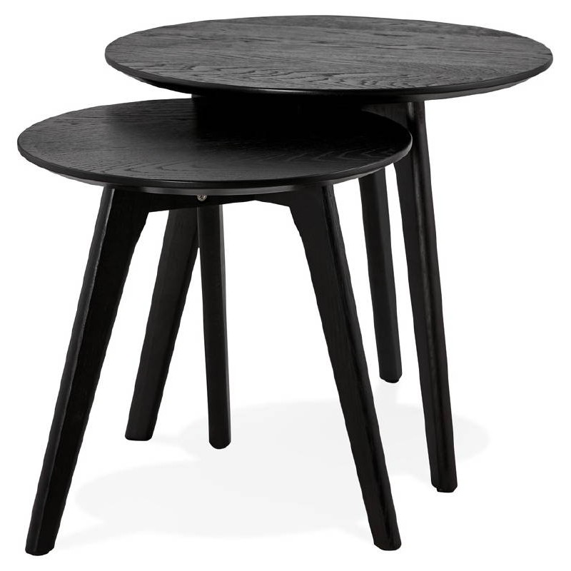 Tables gigognes ART en bois et chêne massif (noir) - image 38671