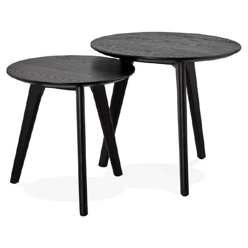 Tables gigognes ART en bois et chêne massif (noir) - image 38672