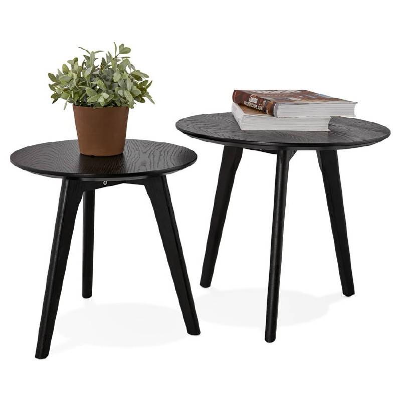 Tables gigognes ART en bois et chêne massif (noir) - image 38681