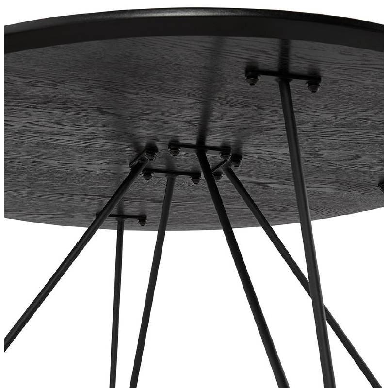 Table basse design style industriel FRIDA en bois et métal (noir) - image 38691