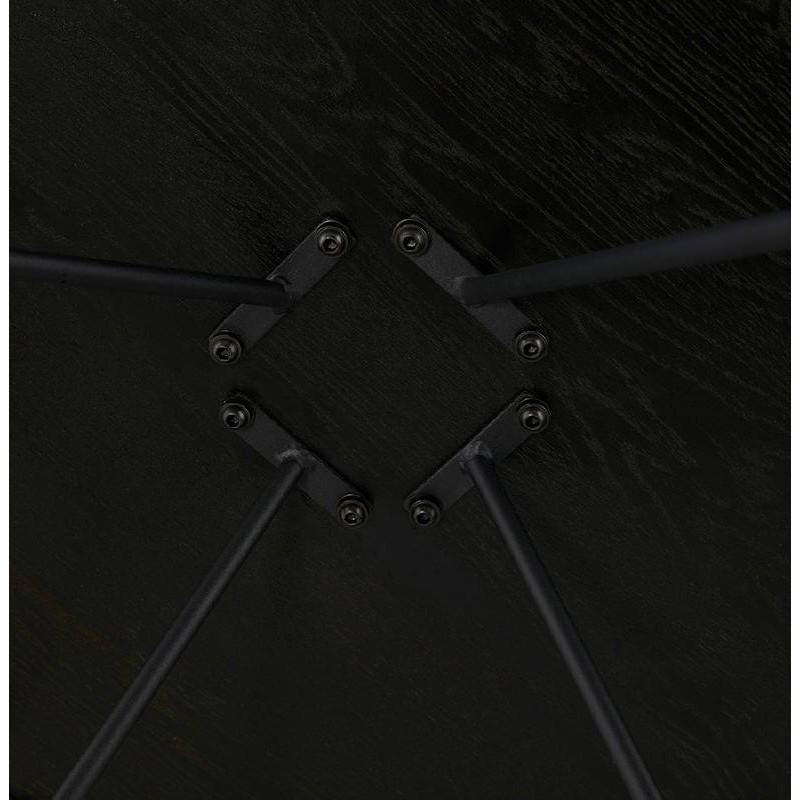 Table basse design style industriel FRIDA en bois et métal (noir) - image 38693