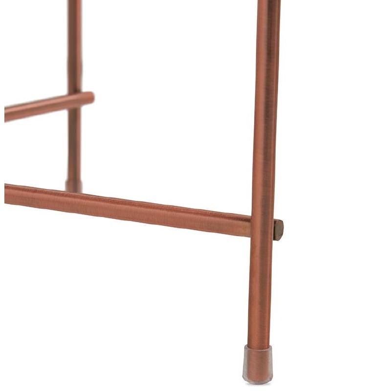 Table d'appoint pliable, bout de canapé ZOE en verre et métal (cuivre) - image 38702