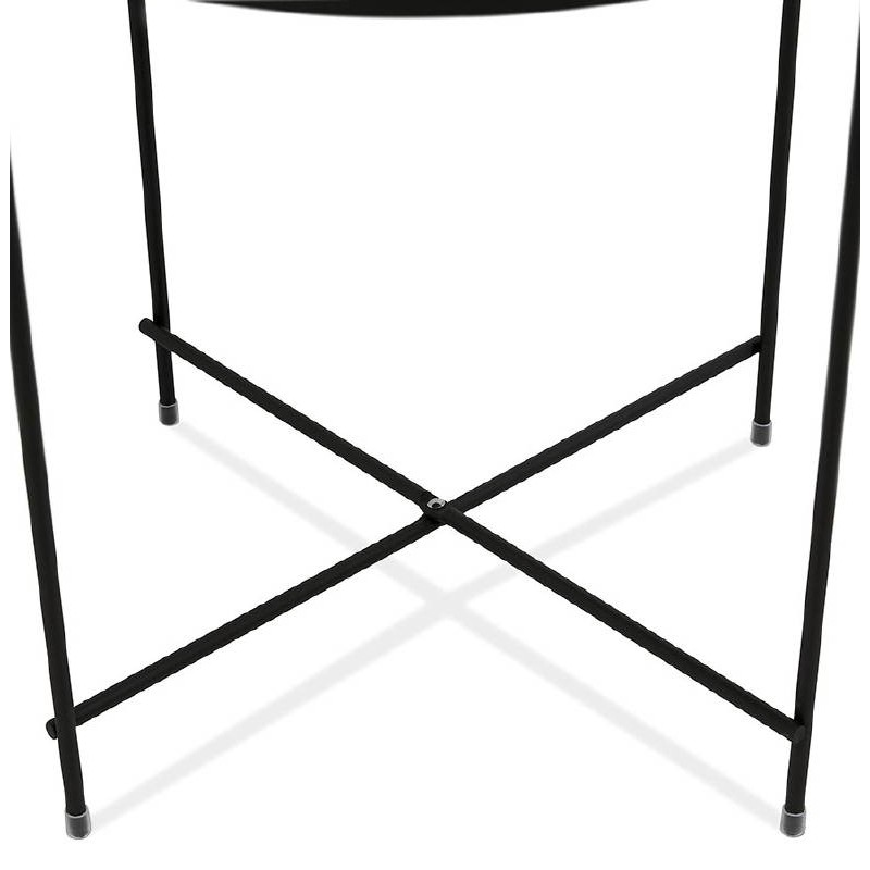 Tavolino pieghevole, tavolino ZOE in vetro e metallo (nero) - image 38710