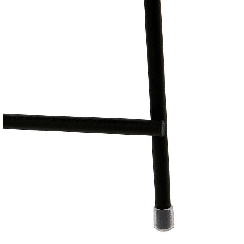Tavolino pieghevole, tavolino ZOE in vetro e metallo (nero) - image 38711