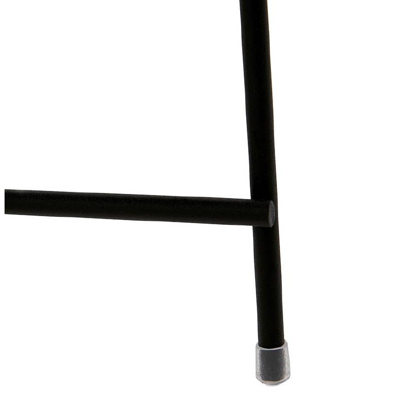 Table d'appoint pliable, bout de canapé ZOE en verre et métal (noir) - image 38711