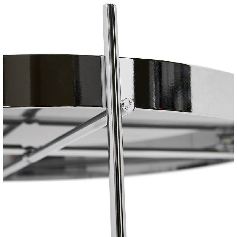 Table d'appoint pliable, bout de canapé ZOE en verre et métal (chrome) - image 38717