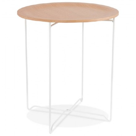 Table d'appoint, bout de canapé design ZACK (naturel)