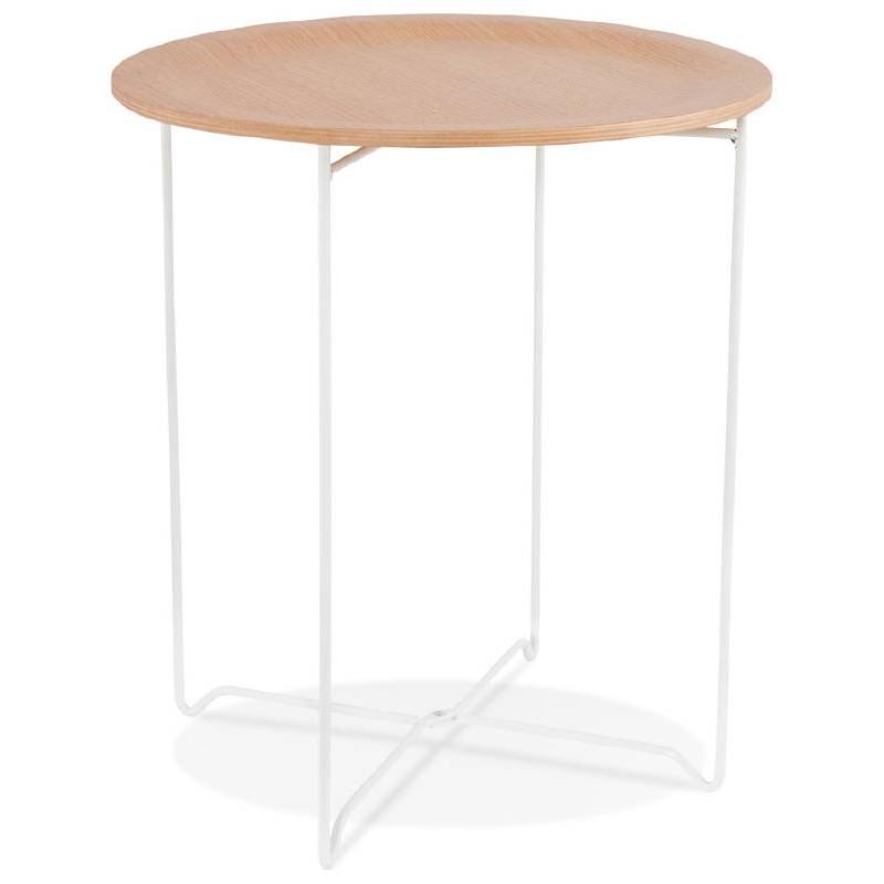Table d'appoint, bout de canapé design ZACK (naturel)