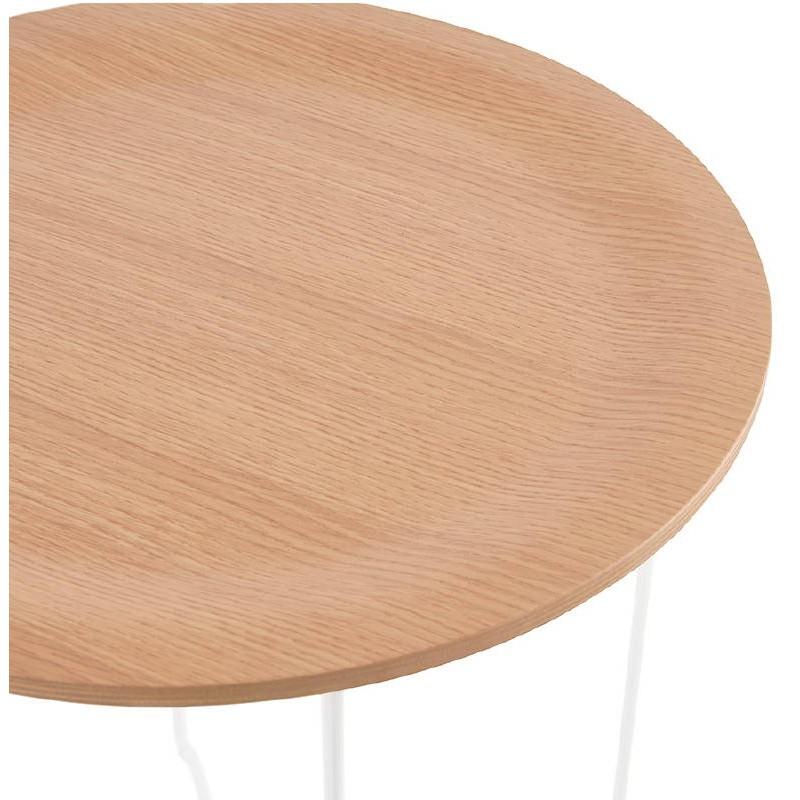 Table d'appoint, bout de canapé design ZACK (naturel) - image 38754