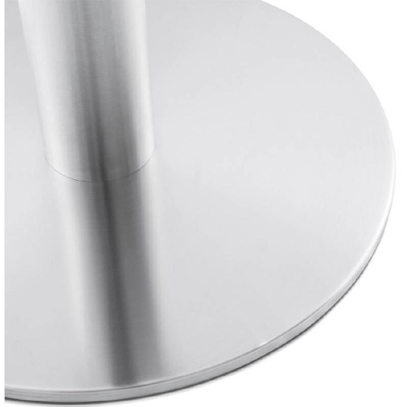 Tavolino design YAEL in metallo spazzolato e legno (bianco) - image 38773