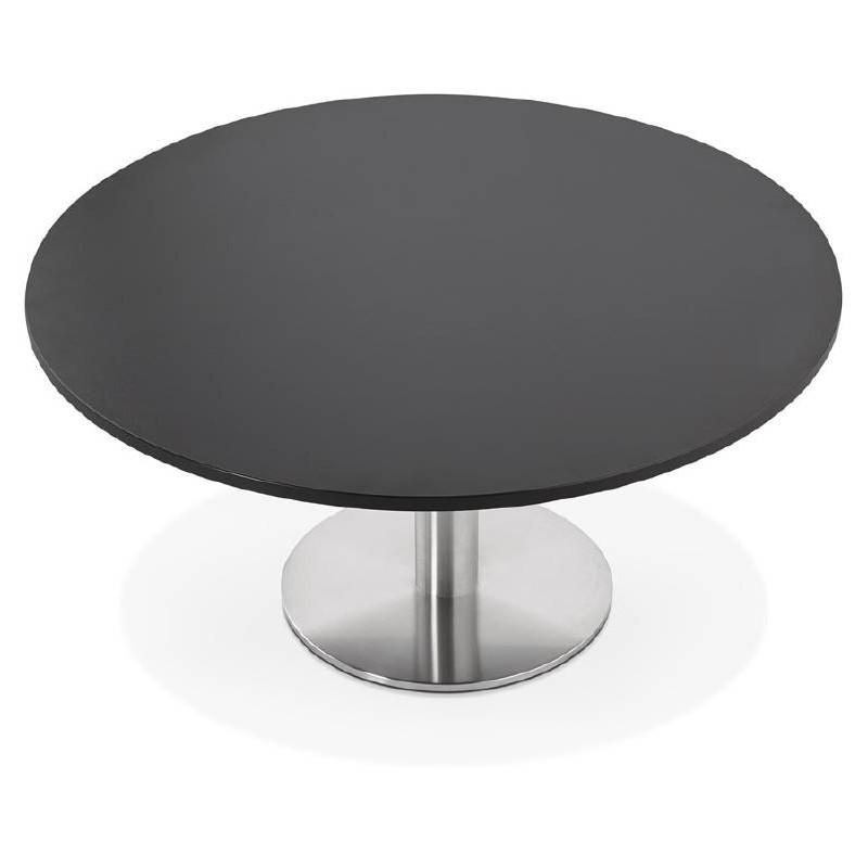 Table basse design YAEL en bois et métal brossé (noir) - image 38775