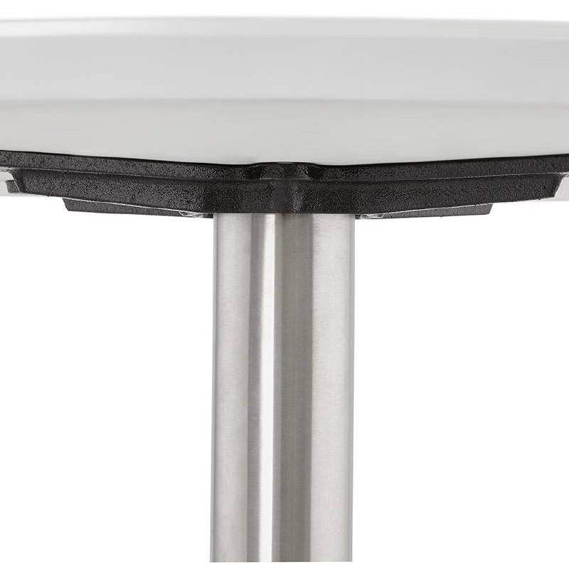 Table basse design WILLY en bois et métal brossé (blanc) - image 38787