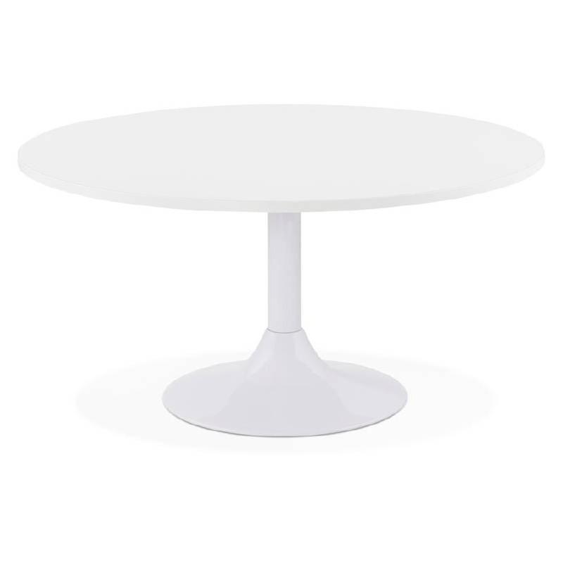 Table basse design VICTORIA en bois et métal peint (blanc) - image 38806