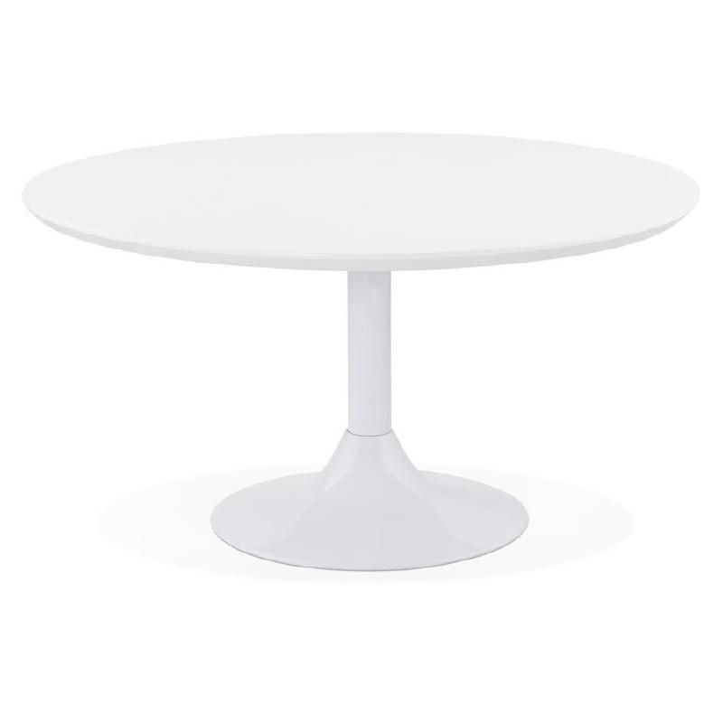 Table basse design VALENTINE en bois et métal peint (blanc) - image 38812