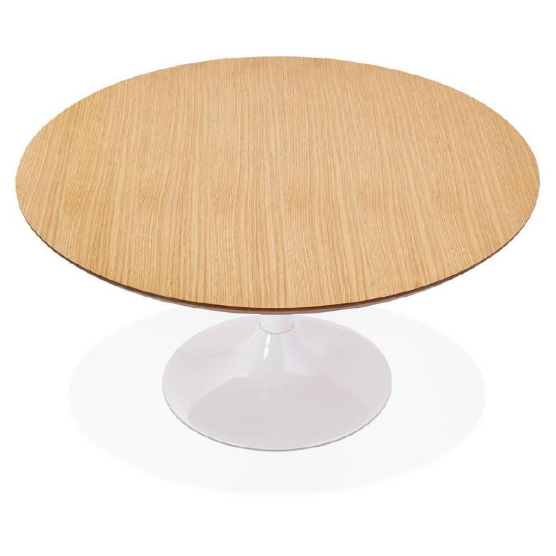 Table basse design VALENTINE en bois et métal peint (chêne naturel) - image 38820