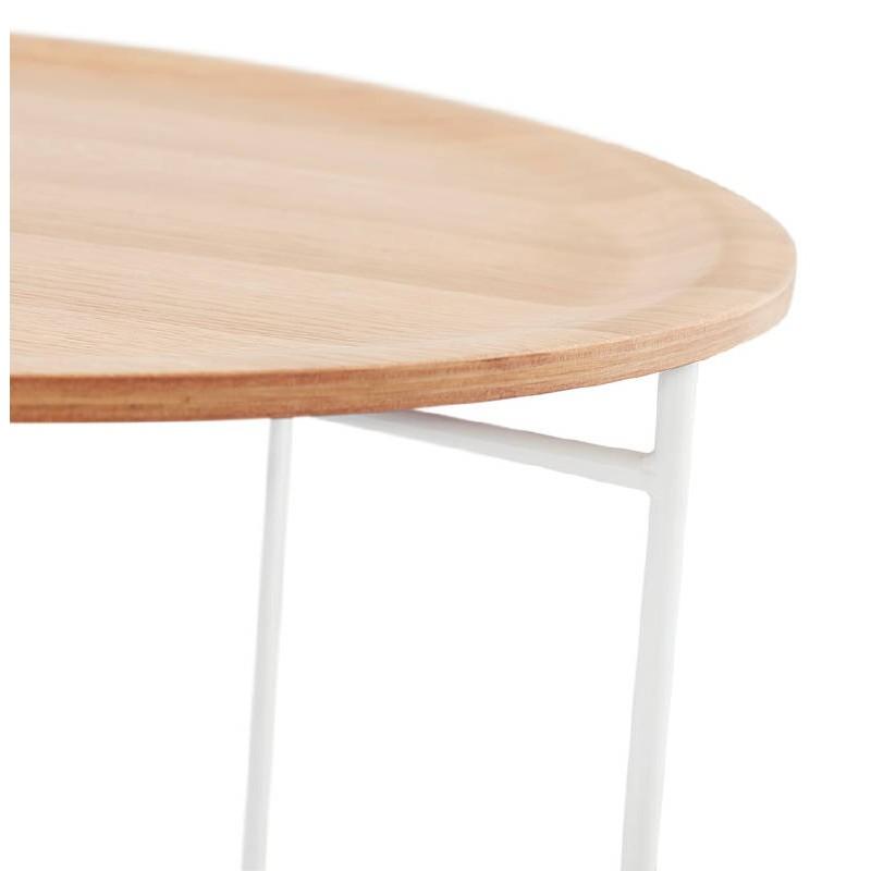 Table basse design TONY en bois et métal peint (chêne naturel) - image 38839
