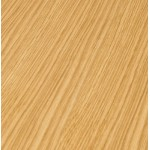 Couchtisch Design WILLY Holz und gebürstetem Metall (Eiche Natur)