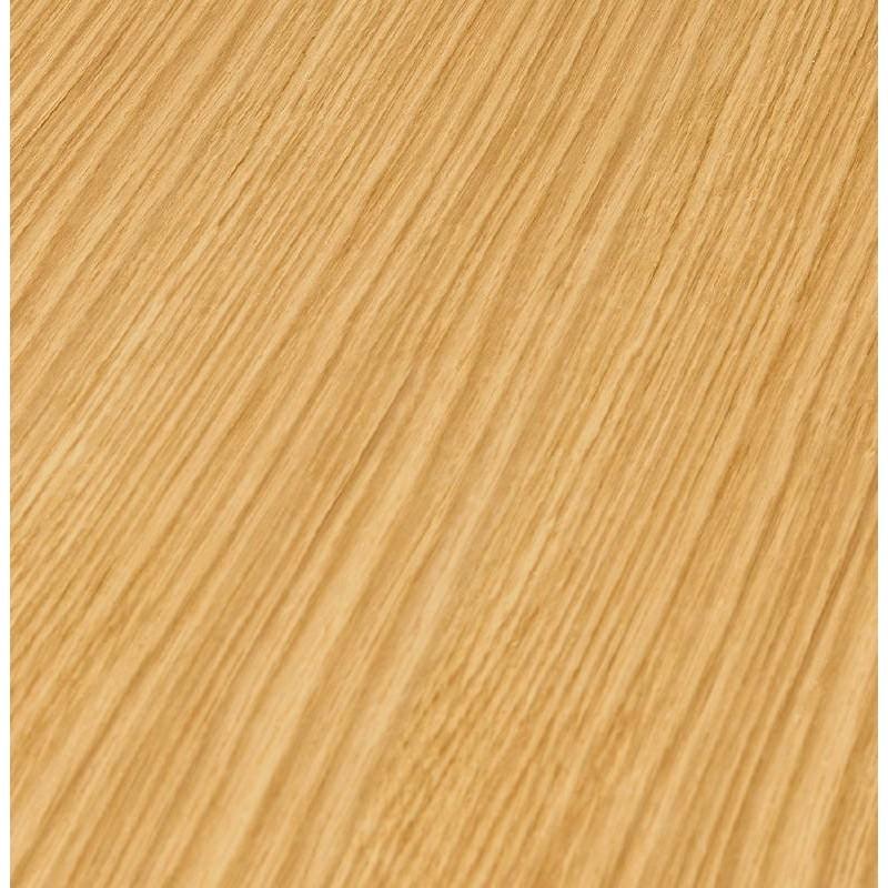 Table basse design WILLY en bois et métal brossé (chêne naturel) - image 38847