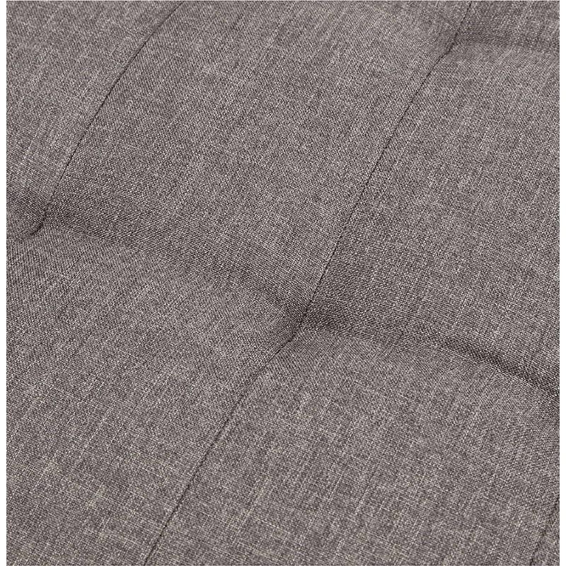 Canapé convertible design capitonné 2 places RACHEL en tissu (gris foncé) - image 38907