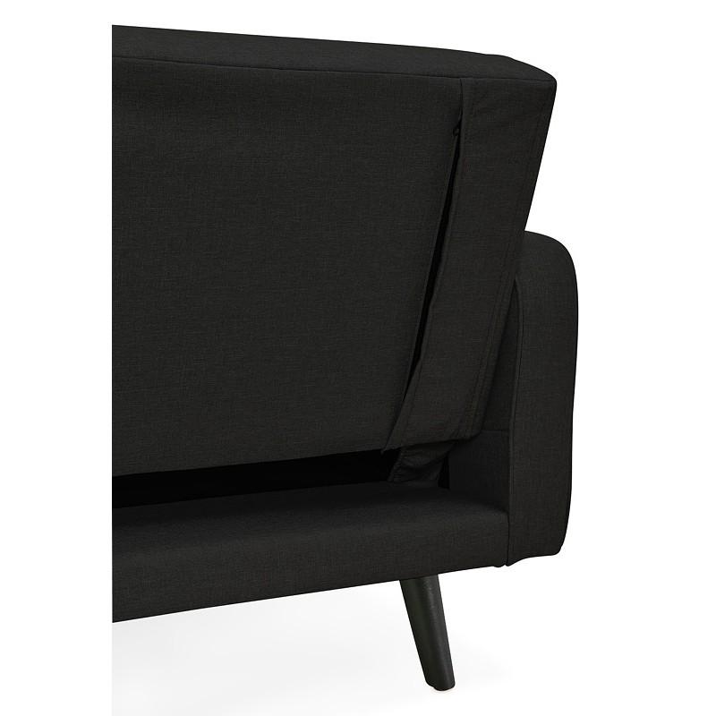 Canapé convertible design capitonné 3 places URSULA en tissu (noir) - image 38940