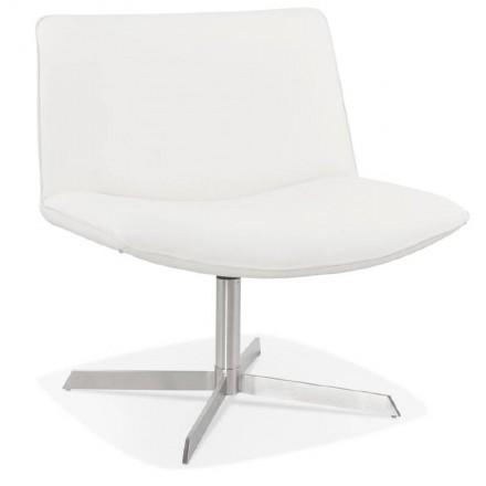 Fauteuil design pivotant MIRANDA (blanc)