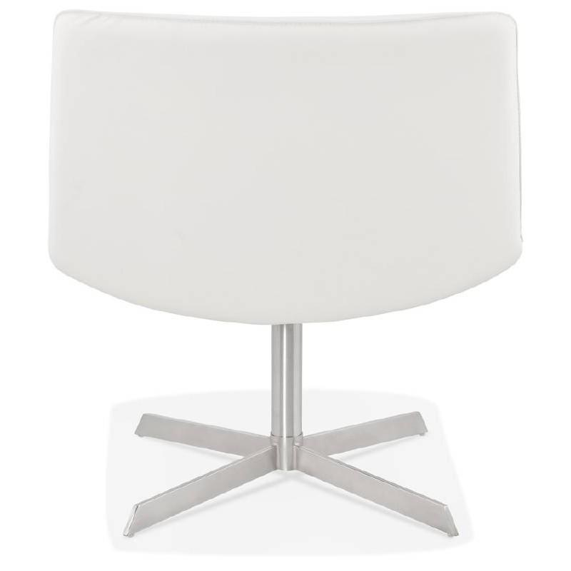 Fauteuil design pivotant MIRANDA (blanc) - image 38950