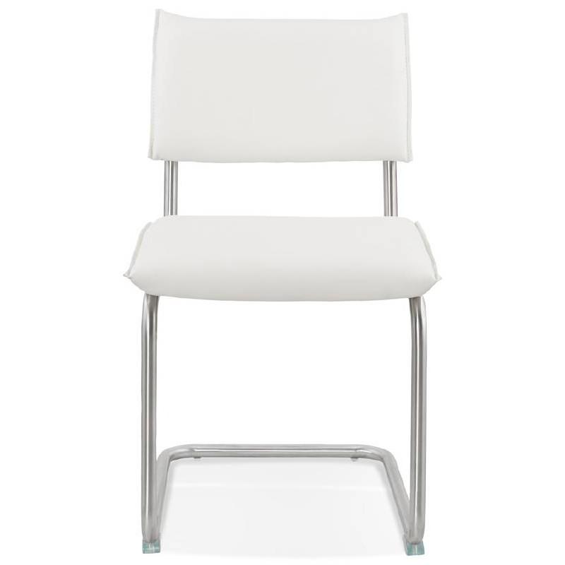 Chaise design rembourrée COLOMBA (blanc) - image 38990