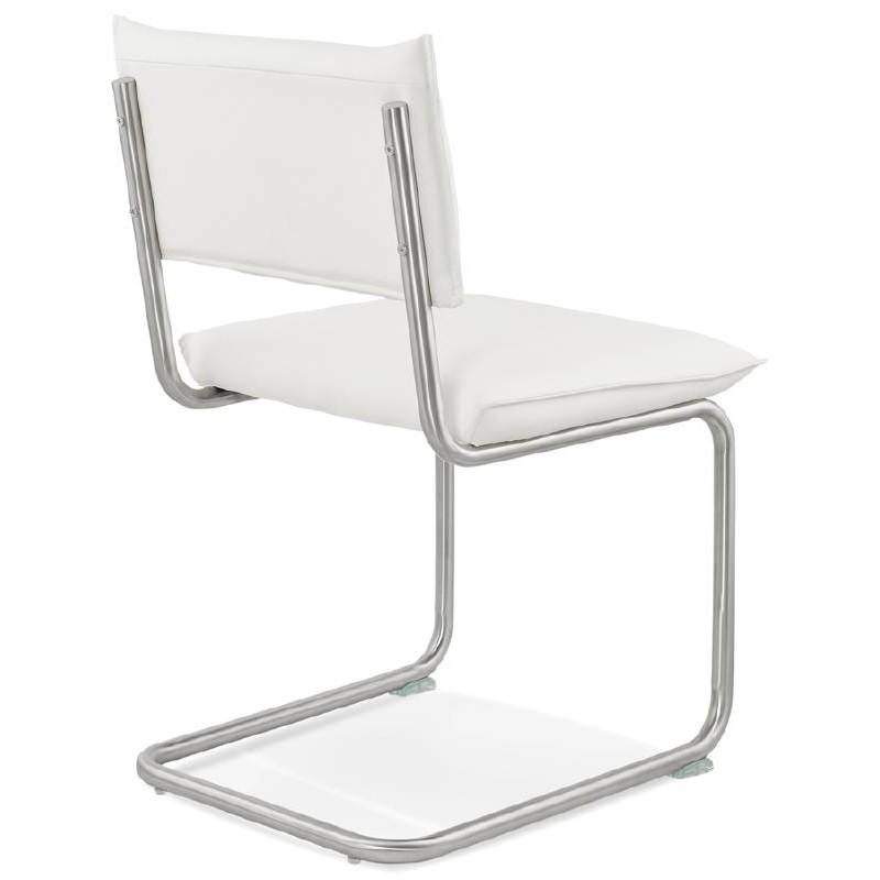 Chaise design rembourrée COLOMBA (blanc) - image 38992