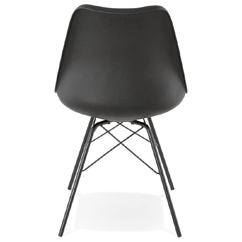 Chaise design style industriel SANDRO (noir) - image 39007