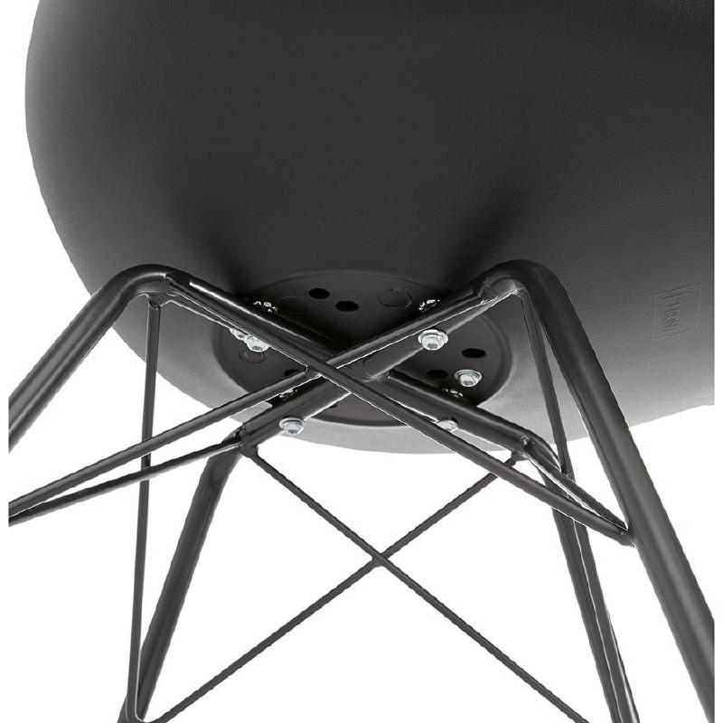 Chaise design style industriel SANDRO (noir) - image 39014