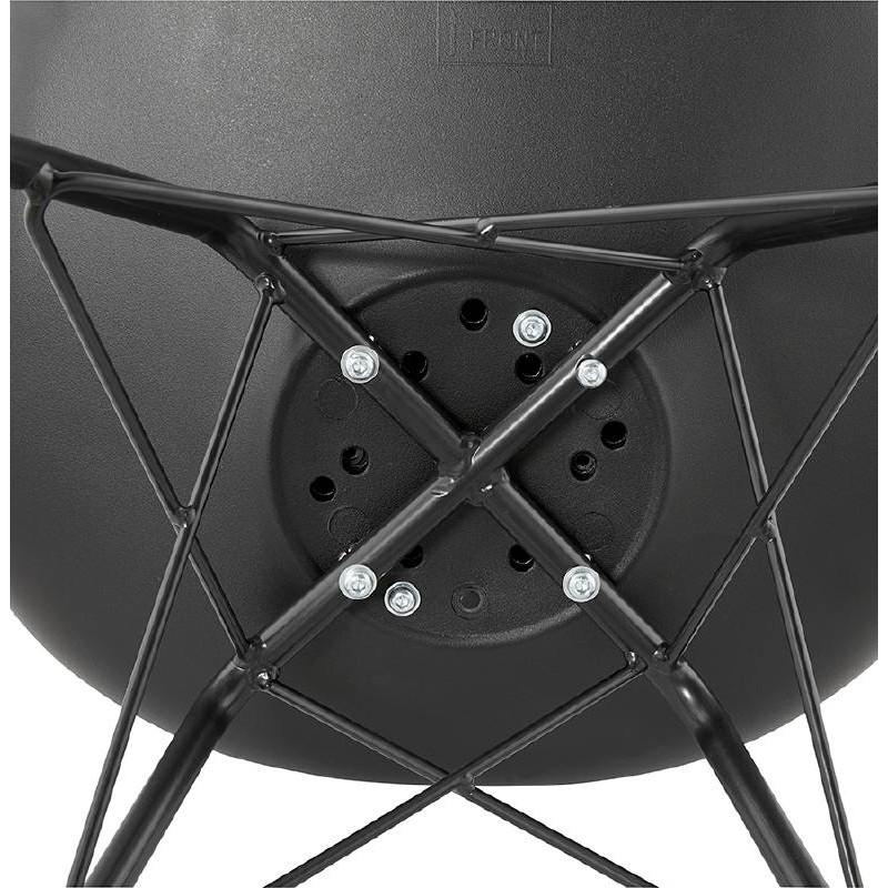 Chaise design style industriel SANDRO (noir) - image 39016